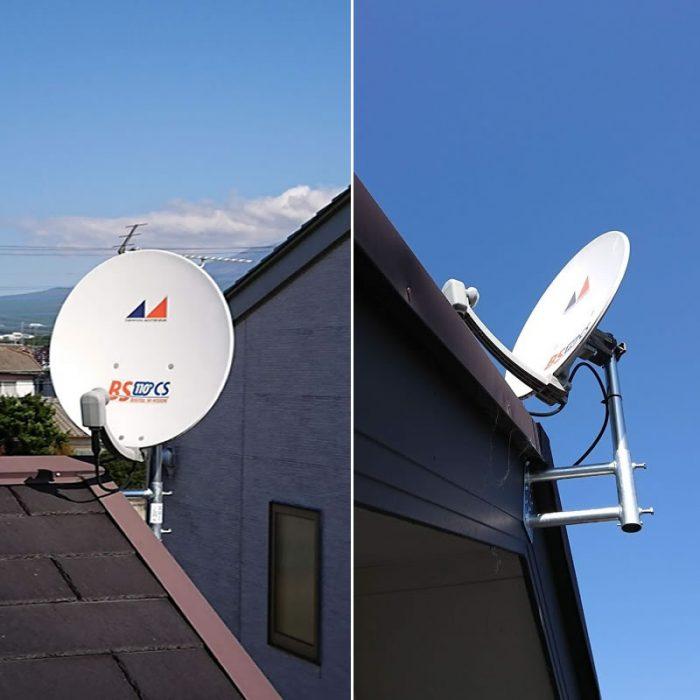 衛星放送アンテナ風速40M対応工事