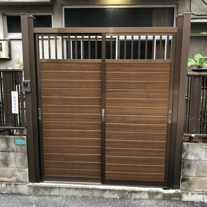 K様邸  引戸型門扉交換工事事例
