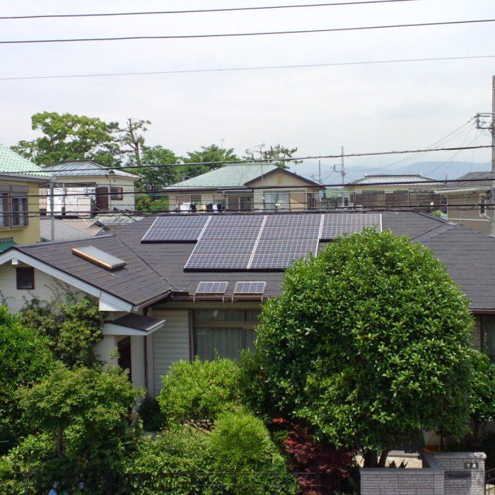 既築住宅に太陽光発電システム設置