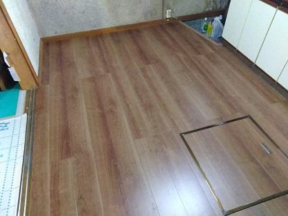 キッチン床の張替え工事